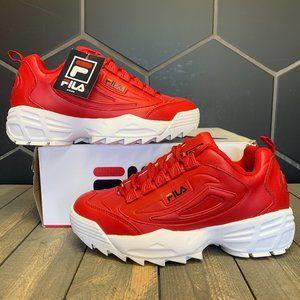 Fila Disruptor 3 Red White Sneaker Size 9